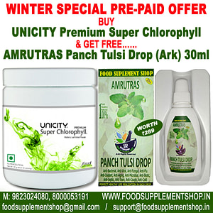Unicity Premium Super Chlorophyll & AMRUTRAS Panch Tulsi Drop Ark 30ml