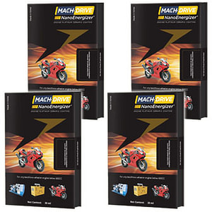Mach drive nano energizer for two and three wheeler engines vestige Pack of 4
